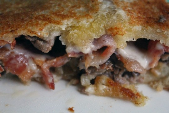 roast beef and bacon grilled sandwich 1