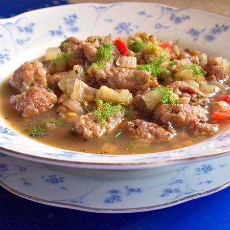 Sausage, Lentil and Fennel Stew