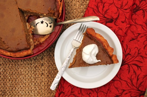 Spiced Pumpkin Pie with a Cinnamon Roll Crust