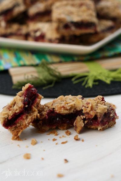 Cranberry Sauce Crumb Bars