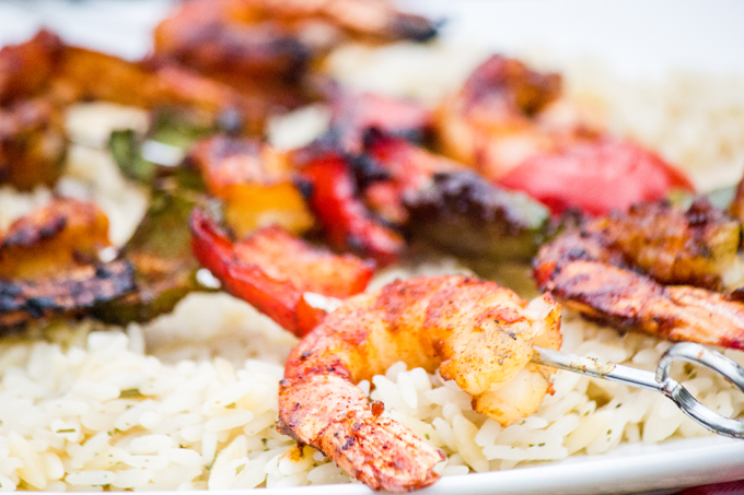 Herb Grilled Shrimp with Grilled Sweet Peppers #SundaySupper #ChooseDreams
