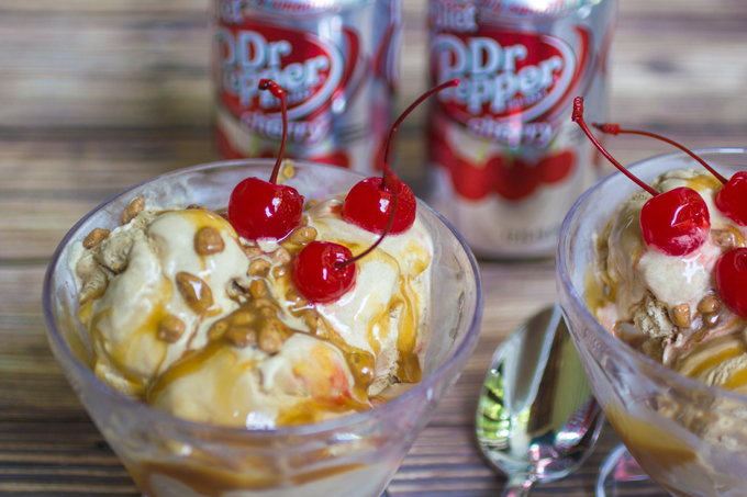 Dr Pepper Ice Cream with Dr Pepper Caramel 3