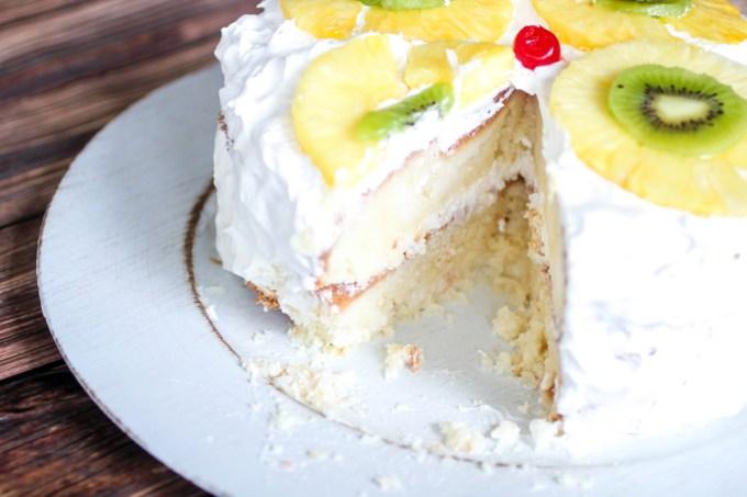 Tropical Layered Poke Cake #SundaySupper