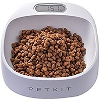 dog food bowl with scale to measure portions