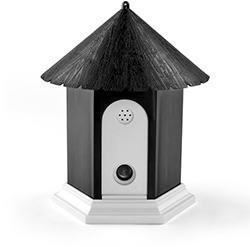 Flexzion Ultrasonic Dog Bark Control Outdoor Pet Anti Bark Deterrent Stop Barking Device Bird House