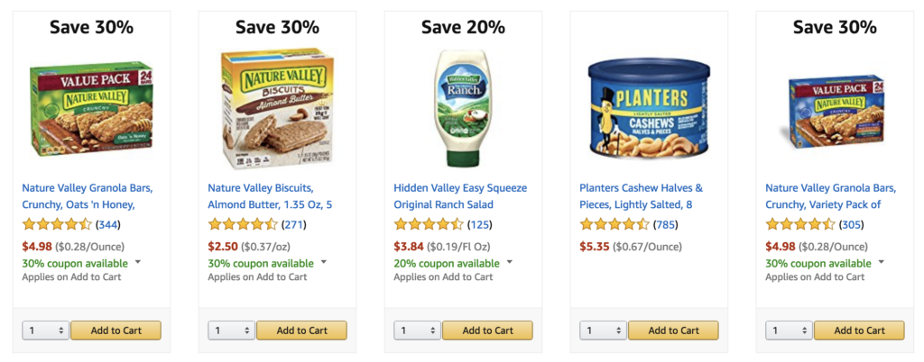 amazon prime pantry : digital coupons