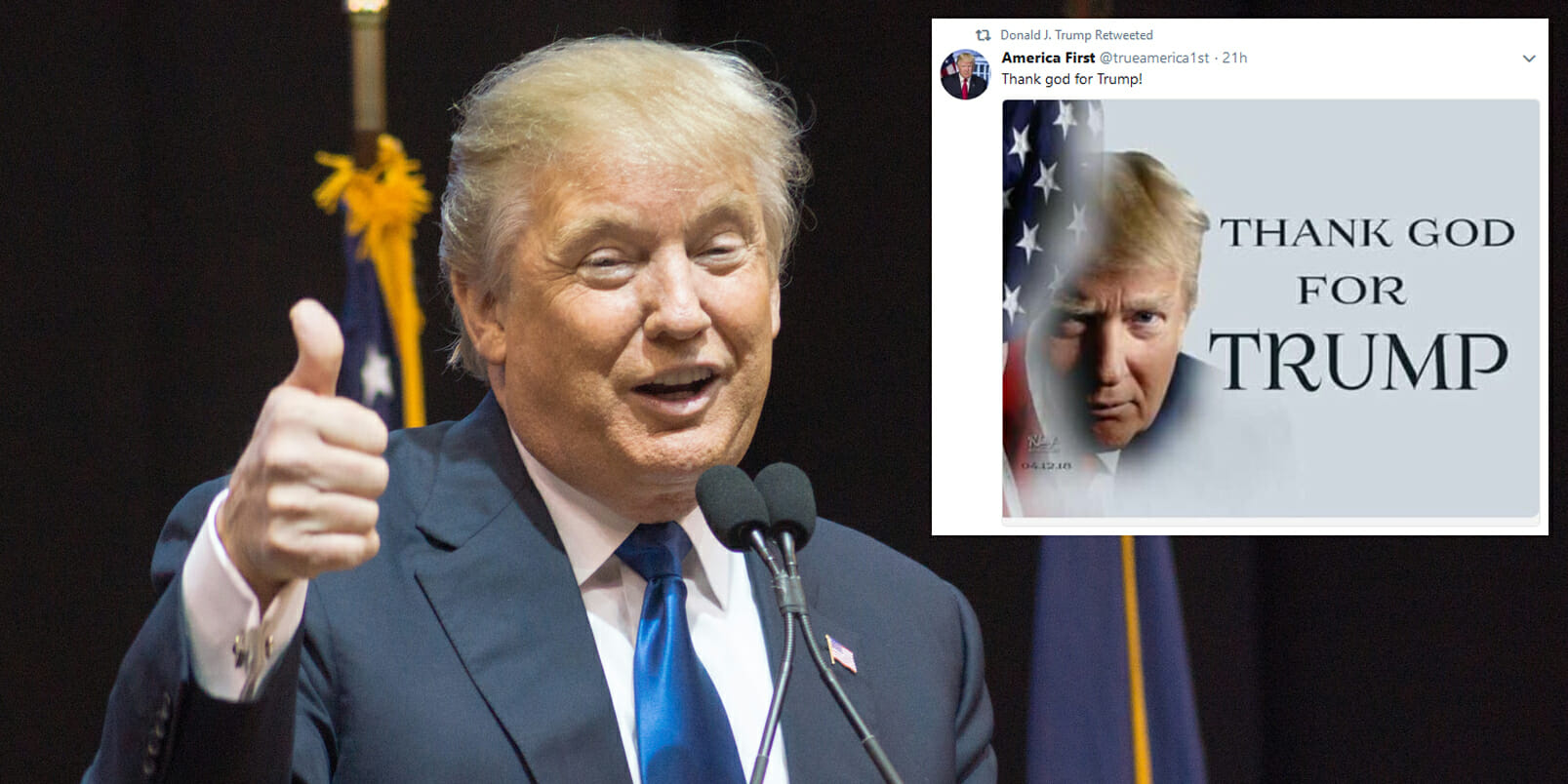 Trump Goes On A Retweeting Spree Posts A Bunch Of Pro