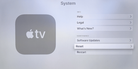 Image result for how to reset apple tv