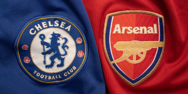 Arsenal and Chelsea logos