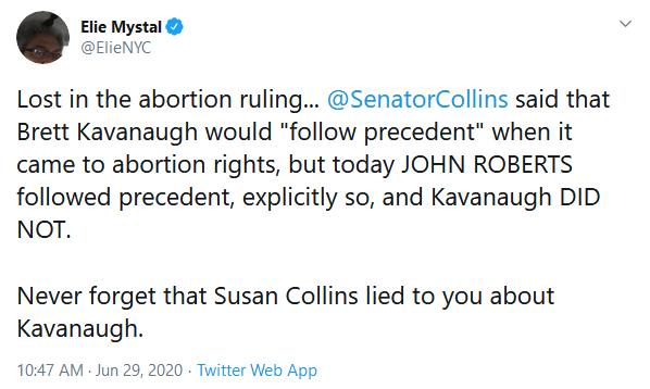Susan Collins Supreme Court Abortion Brett Kavanaugh