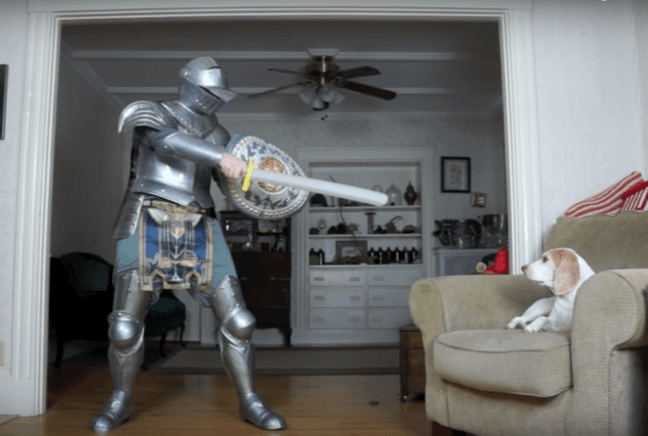 dog vs. knight