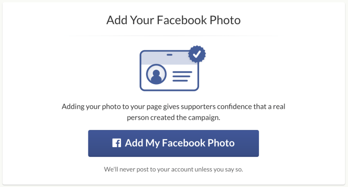 How to set up a GoFundMe : add facebook to go fund me