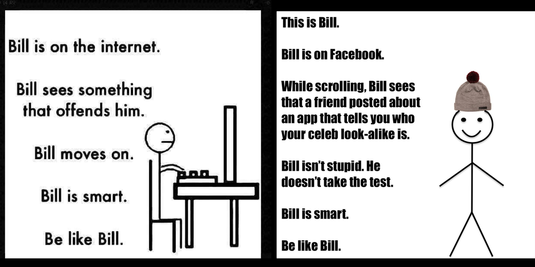Let S Talk About Be Like Bill The Weirdest New Facebook