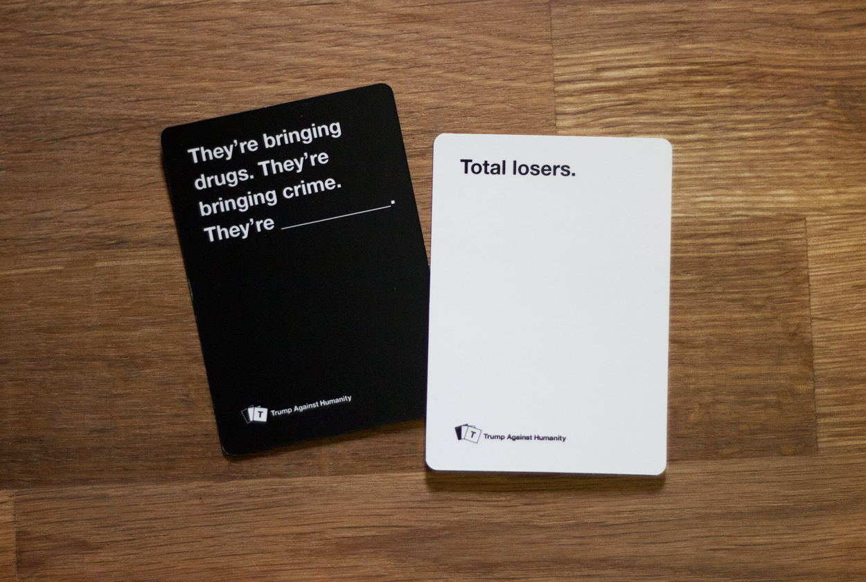 Trump Against Humanity Takes A Famously Inappropriate Card