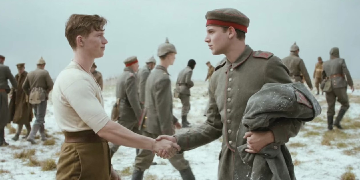 Image result for 1914 christmas truce commercial
