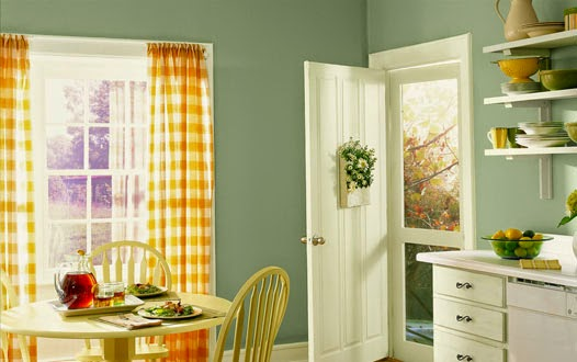 kitchen decor enhanced with ready made curtains sale