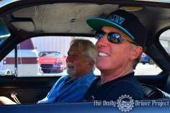 Fireball & Tony Dow in Tony's Corvair