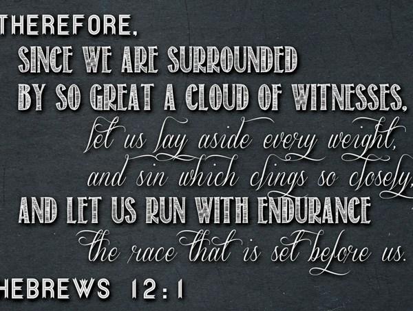 Hebrews 12:1 Printable