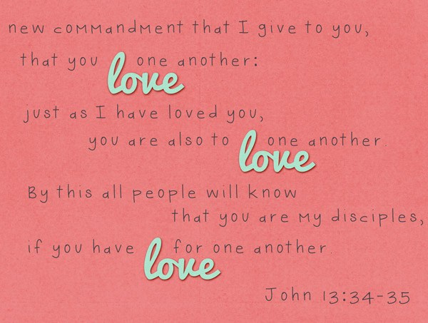 Love One Another Printable