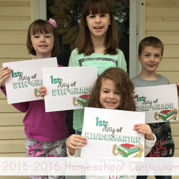 2015-2016 Homeschool Curriculum