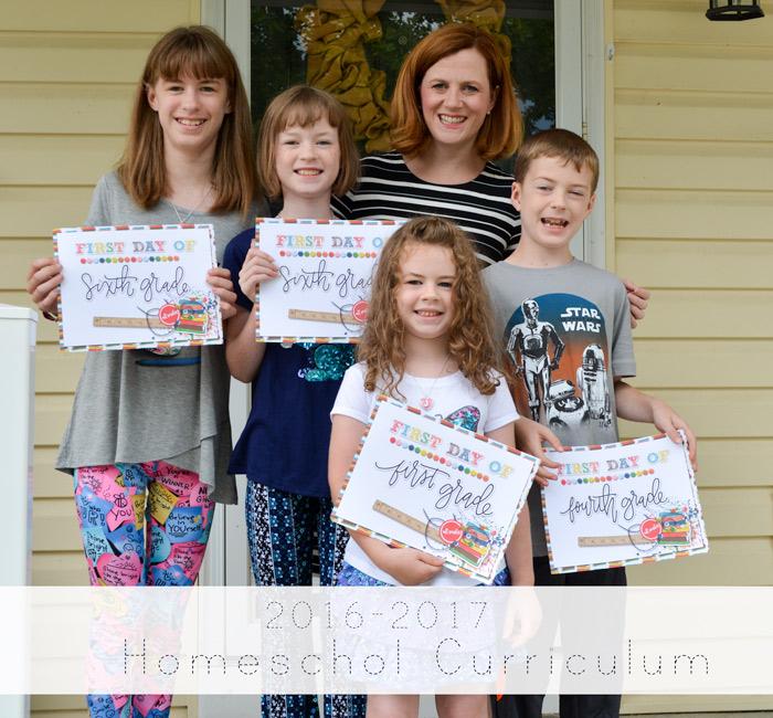 2016-2017 Homeschool Curriculum