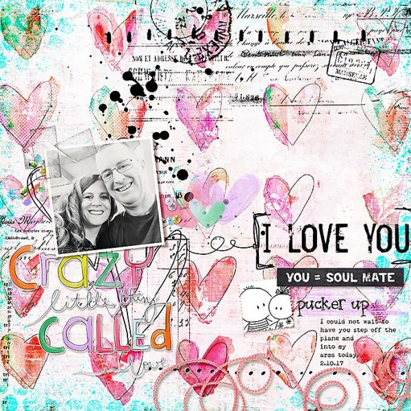 Crazy Thing Called Love | Digi Scrap Layout