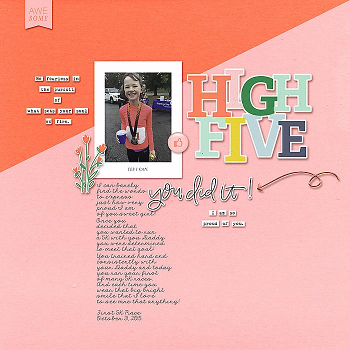 High Five | Digital Scrapbooking Layout