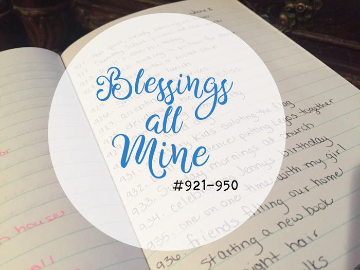 Blessings All Mine #921-950