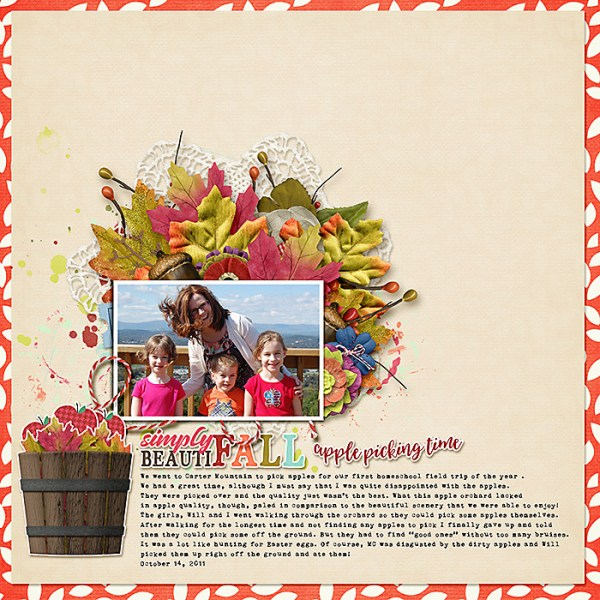 BeautiFall | Digi-Scrap Layout