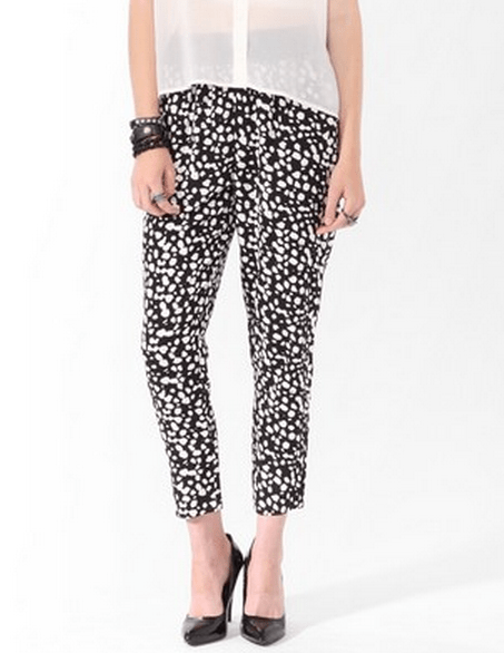 Cropped abstract pants, Forever21 Cropped abstract pants