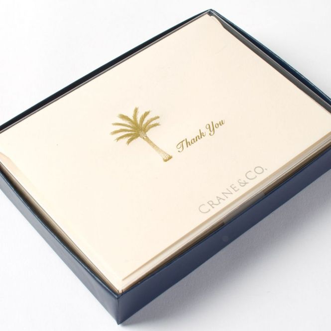 palm tree thank you notes