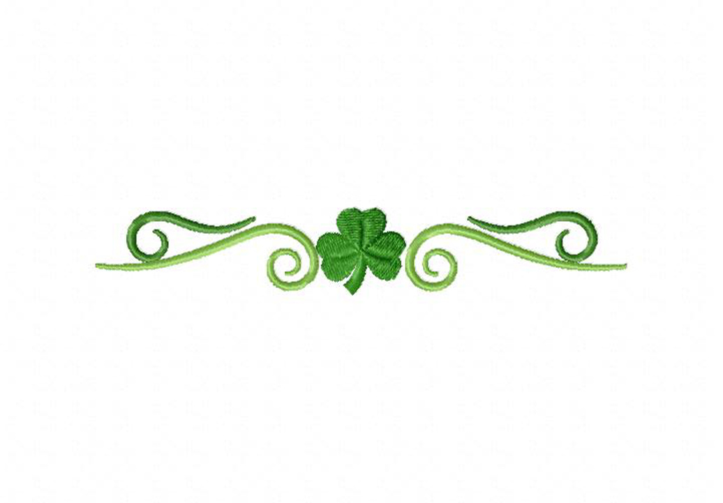 simple clover border machine embroidery design daily embroidery