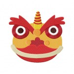 Chinese Dragon Head Embroidery Design Daily Embroidery