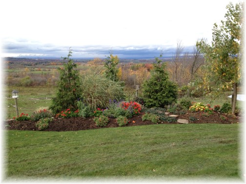 Amish flower garden in New York 10/18/14