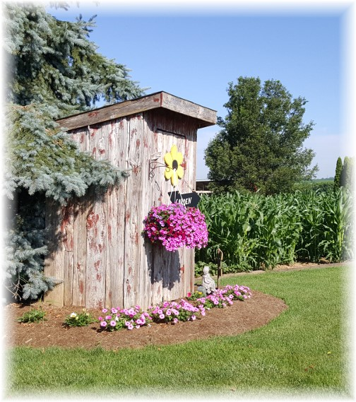 Amish decorative outhouse, Lancaster County, PA 6/30/16