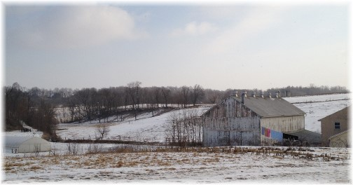 Amish farm in southern Lancaster County PA 2/27/15