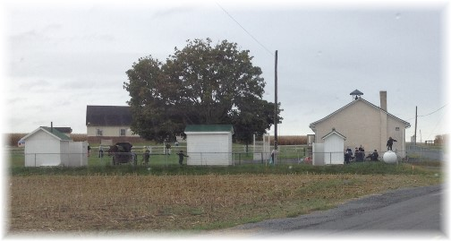Amish one room school house near New Holland, PA 10/1/15