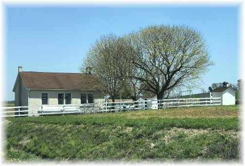 Amish one room schoolhouse in Lancaster County PA 4/23/18