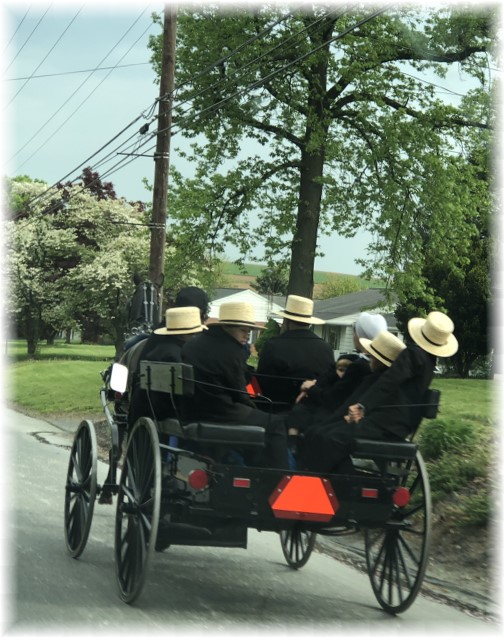 Ascension Day traffic in Lancaster County PA 5/10/18
