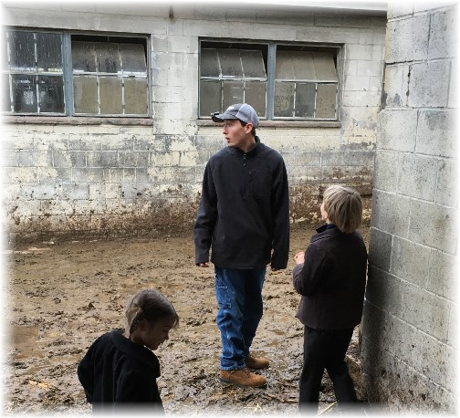 Nick on Amish farm