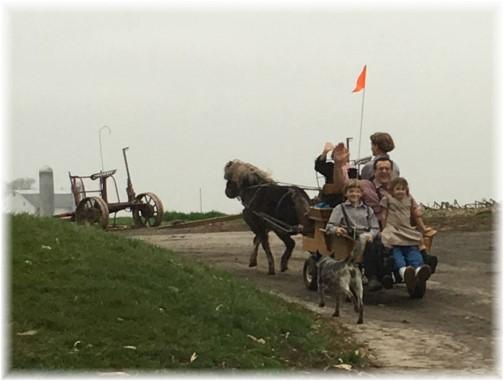 Cart ride with children 12/25/15