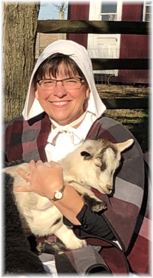 Brooksyne holding Daisy the goat, Lancaster County, PA 11/17/17