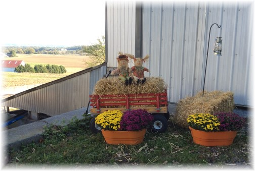 Decorations in front of barn 10/12/14