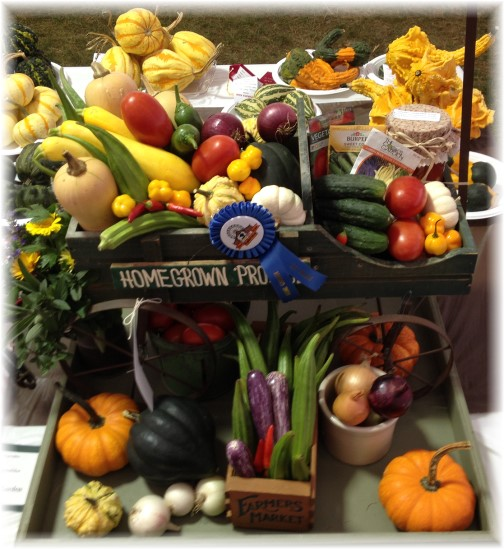 Ephrata Fair harvest display 9/25/14