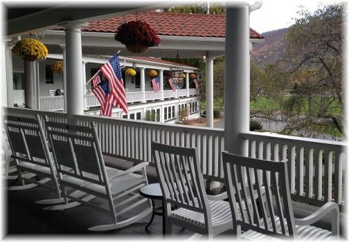 Veranda at the Shawnee Inn, Poconos, PA 11/2/14