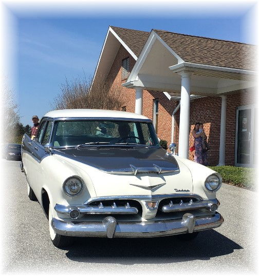 Mervin driving 56 Dodge home from church 4/17/16 (Click to enlarge)