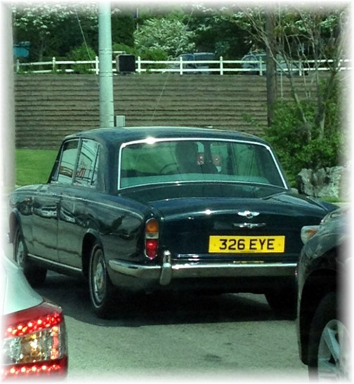 British car on Lincoln Highway 5/17/14