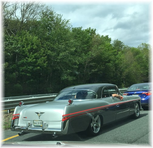 Old car on MA pike 6/12/16