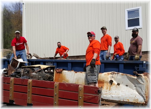 JK workday dumpster team 4/19/16