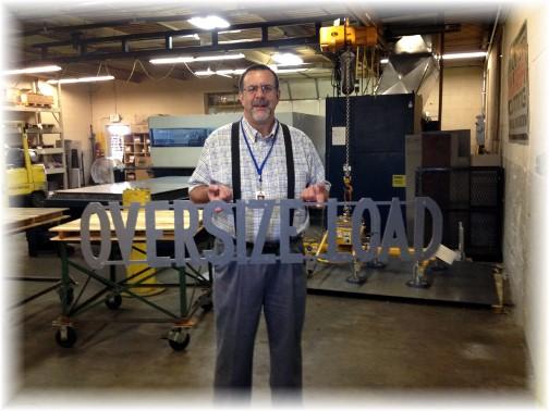 Smucker Laser oversize load sign 6/18/14